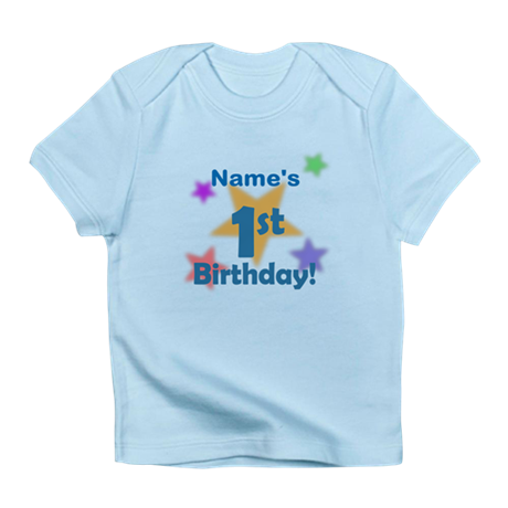 Personalized 1st Birthday Infant T-Shirt