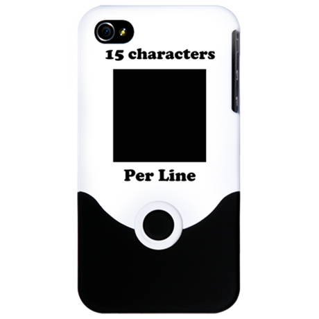 Your Picture Your Text iPhone 4 Slider Case