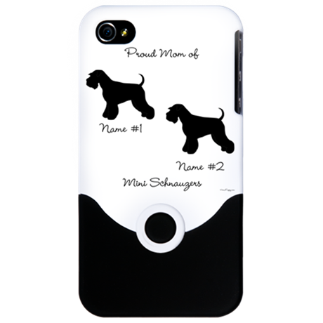 2 Schnauzers iPhone 4 Slider Case