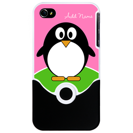 Add Name Cute Penguin iPhone 4 Slider Case