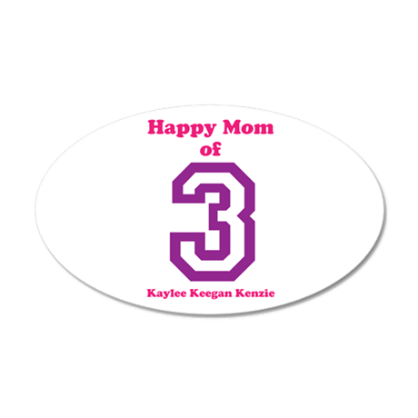 Personalized Mother 20x12 Oval Wall Decal
