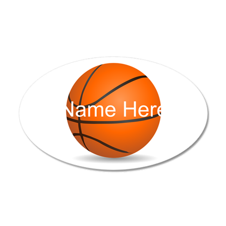 customizable basketball ball decal wall sticker by