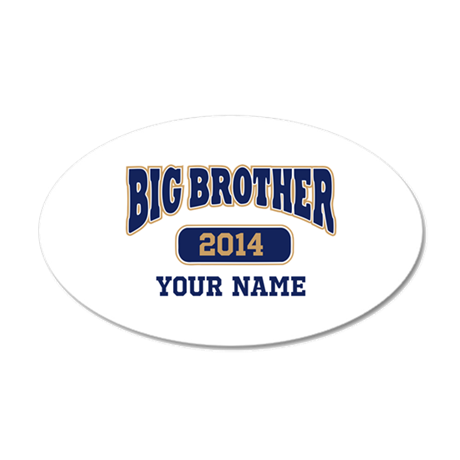 Personalized Big Brother 20x12 Oval Wall Decal