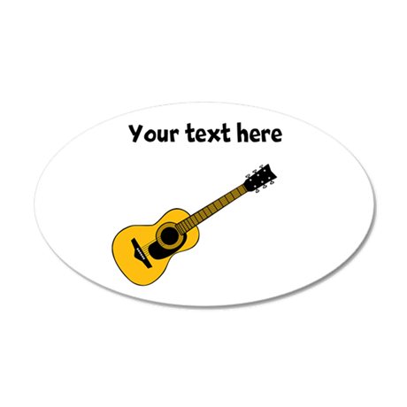 customizable guitar wall sticker by leetahsplace