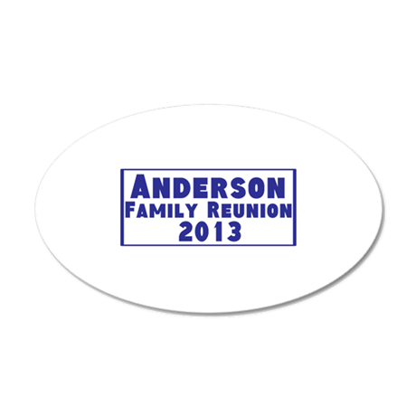 Personalized Family Reunion 35x21 Oval Wall Decal