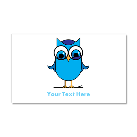 Personalized Blue Owl 20x12 Wall Decal