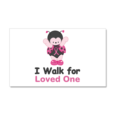 Walk For Ladybug 20x12 Wall Decal