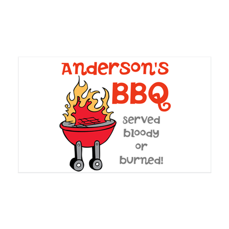 Personalized BBQ 35x21 Wall Decal