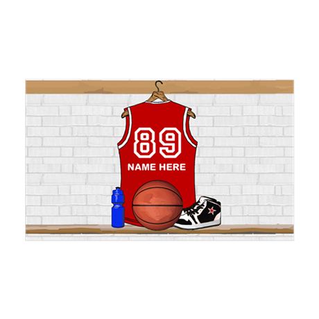 Personalized Basketball Jerse 38.5 x 24.5 Wall Pee