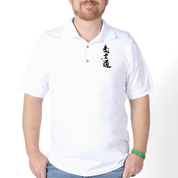 Bushido Kanji Polo Shirt - Pocket Design Shirt