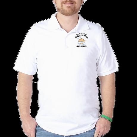 Proud New Grandpa Personalized Golf Shirt