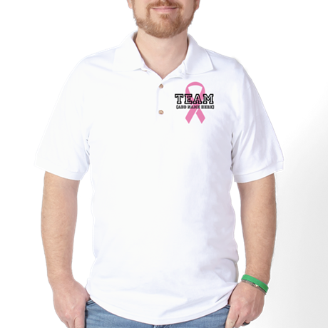 Personalize Breast Cancer Golf Shirt