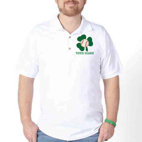 Personalized Irish Baseball Gift Golf Shirt
