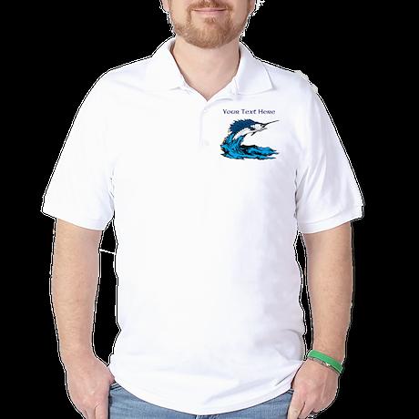 Personalizable Swordfish Design Golf Shirt