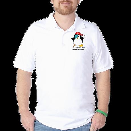 Pirate Penguin Golf Shirt