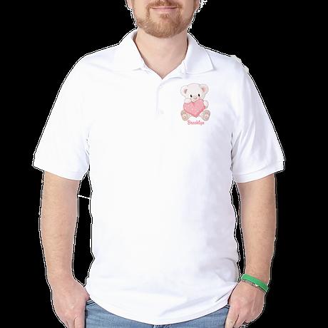 Custom name valentine bear Golf Shirt