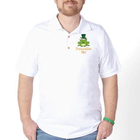 Leprechaun Frog Golf Shirt