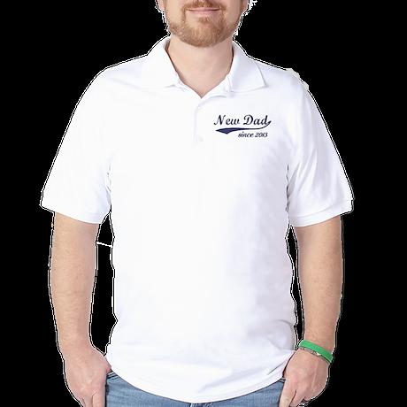 Custom New Dad Golf Shirt
