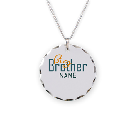 Personalized Add Name Big Brother Print Necklace C