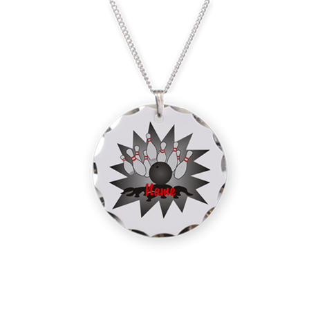 Personalized Bowling Necklace Circle Charm