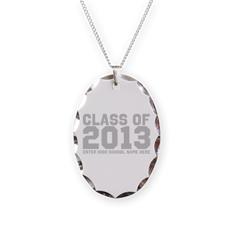 2013 Graduation Necklace Oval Charm