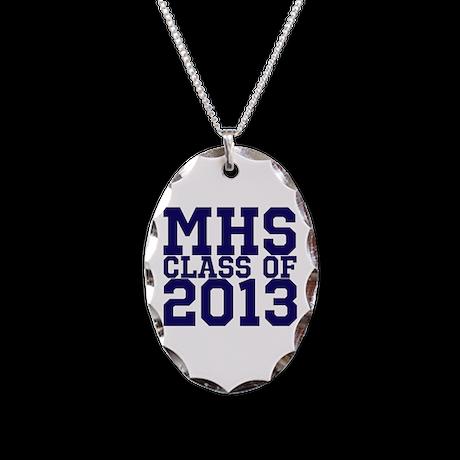 2013 Graduation Necklace Oval Charm