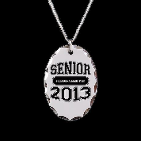 Senior 2013 Necklace Oval Charm