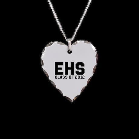 2012 Graduation Necklace Heart Charm