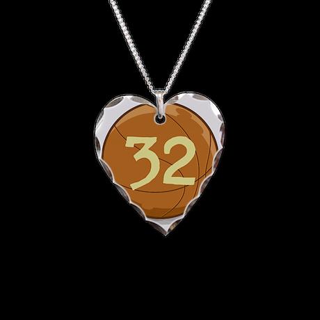 Basketball Custom Design Necklace Heart Charm