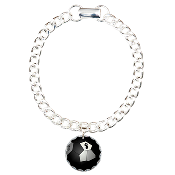 8 Ball Illusion 3D Charm Bracelet