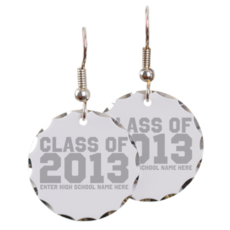2013 Graduation Earring Circle Charm