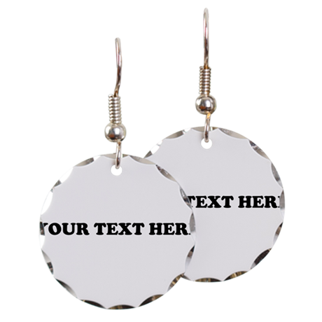 Custom Text Earring Circle Charm