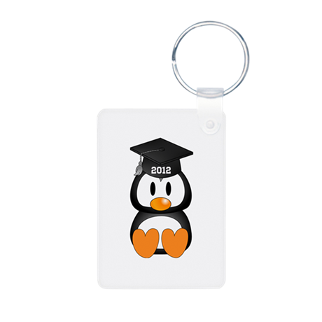 Custom Graduation Penguin Aluminum Photo Keychain