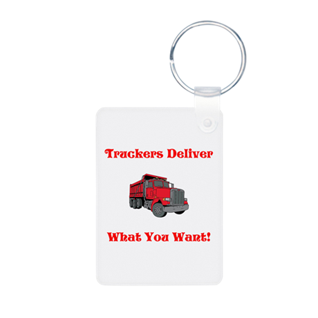 Truckers Deliver Father's Day Aluminum Keychain