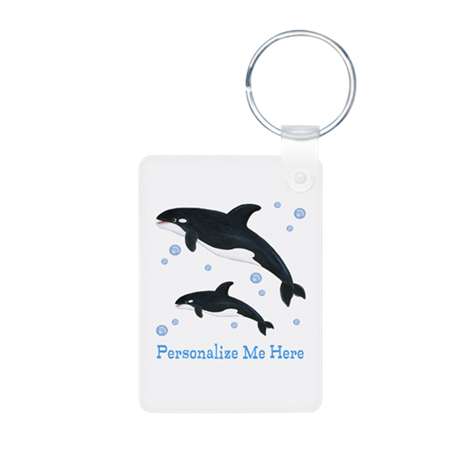 Personalized Killer Whale Aluminum Photo Keychain