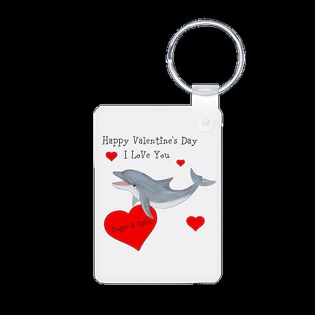 Personalized Dolphin Valentine Aluminum Photo Keyc