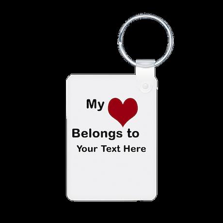 Valentine Custom Aluminum Photo Keychain