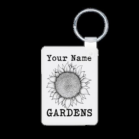 Custom Garden Aluminum Photo Keychain