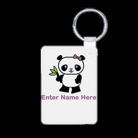 Personalized Panda Aluminum Photo Keychain