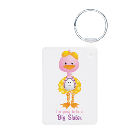 Big Sister to be -Ducky Aluminum Photo Keychain