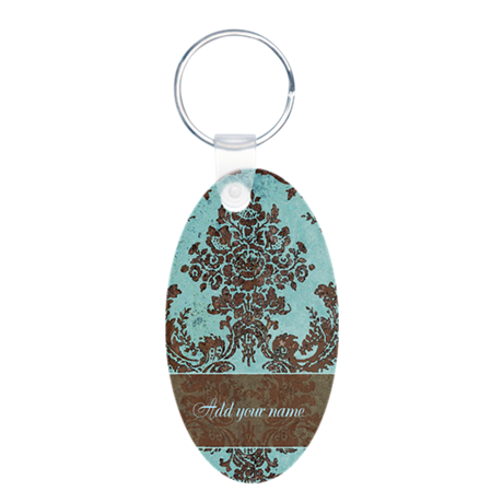 things you can personalize Aluminum Oval Keychain