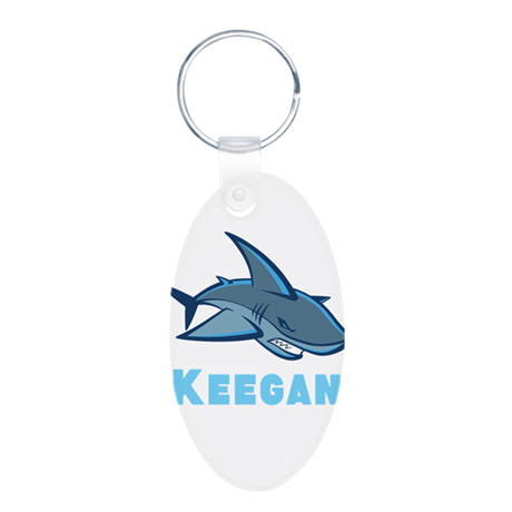 Personalized shark Aluminum Oval Keychain