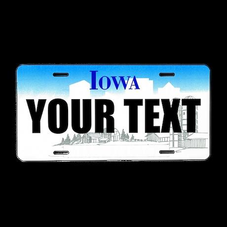 Iowa Custom License Plate by ranger275store