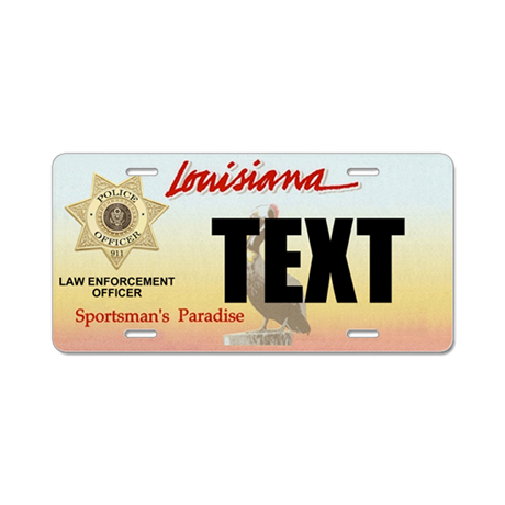 Louisiana police officer custom license plate by for Louisiana id template