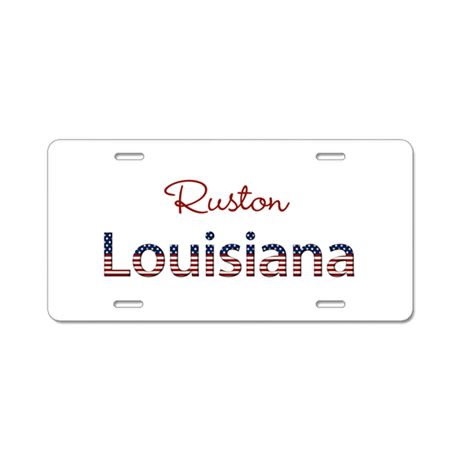 Custom louisiana aluminum license plate by namestuff for Louisiana id template