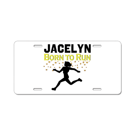track and field aluminum license plate by sportsstar. Black Bedroom Furniture Sets. Home Design Ideas