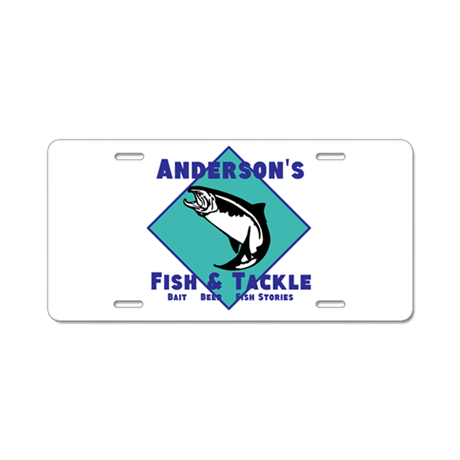 Personalized fishing aluminum license plate by for Do kids need a fishing license
