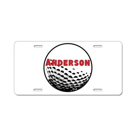 Personalized Golf Aluminum License Plate by PersonalizedGifts2