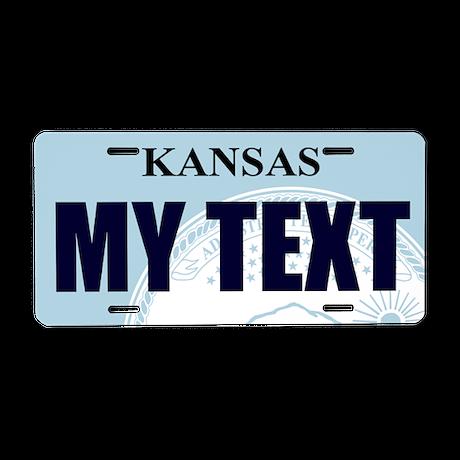 Kansas - State Seal aluminum license plate replica