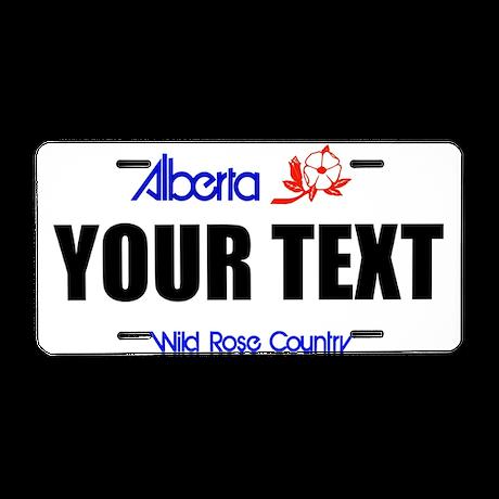 Alberta Customizable License Plate